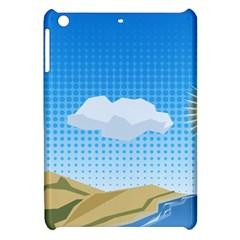 Grid Sky Course Texture Sun Apple iPad Mini Hardshell Case