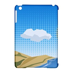 Grid Sky Course Texture Sun Apple iPad Mini Hardshell Case (Compatible with Smart Cover)