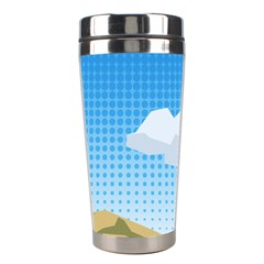 Grid Sky Course Texture Sun Stainless Steel Travel Tumblers