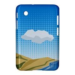 Grid Sky Course Texture Sun Samsung Galaxy Tab 2 (7 ) P3100 Hardshell Case