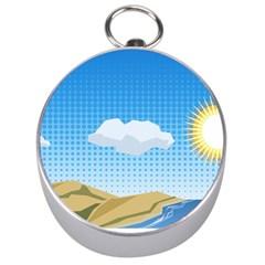 Grid Sky Course Texture Sun Silver Compasses