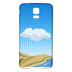 Grid Sky Course Texture Sun Samsung Galaxy S5 Back Case (white)