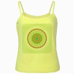 Flower Abstract Floral Yellow Spaghetti Tank