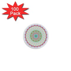 Flower Abstract Floral 1  Mini Buttons (100 Pack)