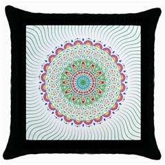 Flower Abstract Floral Throw Pillow Case (Black)