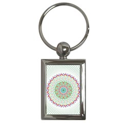 Flower Abstract Floral Key Chains (rectangle)
