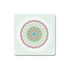 Flower Abstract Floral Square Magnet