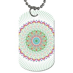 Flower Abstract Floral Dog Tag (one Side)