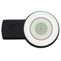 Flower Abstract Floral USB Flash Drive Round (1 GB)