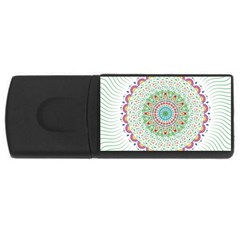 Flower Abstract Floral USB Flash Drive Rectangular (1 GB)