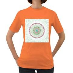 Flower Abstract Floral Women s Dark T-Shirt