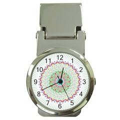 Flower Abstract Floral Money Clip Watches