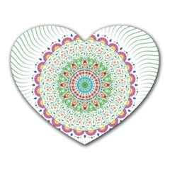 Flower Abstract Floral Heart Mousepads