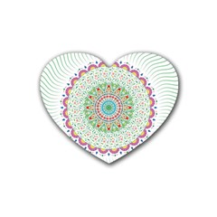 Flower Abstract Floral Heart Coaster (4 Pack)