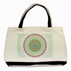 Flower Abstract Floral Basic Tote Bag (two Sides)