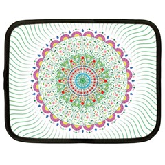 Flower Abstract Floral Netbook Case (large)