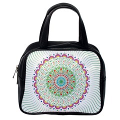 Flower Abstract Floral Classic Handbags (one Side)