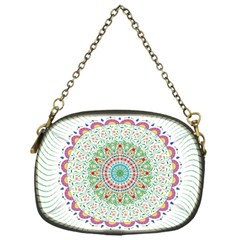 Flower Abstract Floral Chain Purses (one Side)
