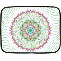 Flower Abstract Floral Double Sided Fleece Blanket (mini)