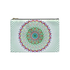 Flower Abstract Floral Cosmetic Bag (medium)