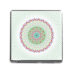 Flower Abstract Floral Memory Card Reader (square)