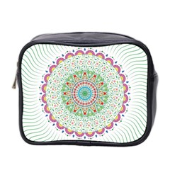 Flower Abstract Floral Mini Toiletries Bag 2 Side