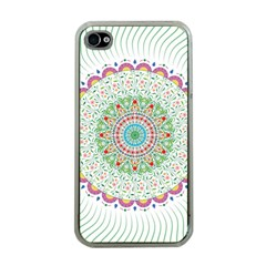 Flower Abstract Floral Apple iPhone 4 Case (Clear)
