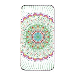 Flower Abstract Floral Apple Iphone 4/4s Seamless Case (black)