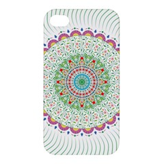 Flower Abstract Floral Apple Iphone 4/4s Premium Hardshell Case