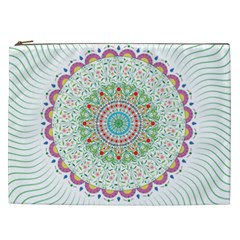 Flower Abstract Floral Cosmetic Bag (xxl)
