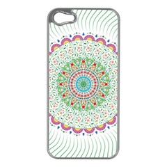 Flower Abstract Floral Apple Iphone 5 Case (silver)