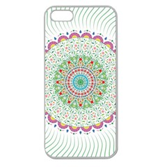 Flower Abstract Floral Apple Seamless iPhone 5 Case (Clear)