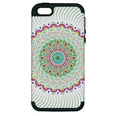 Flower Abstract Floral Apple Iphone 5 Hardshell Case (pc+silicone)
