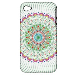 Flower Abstract Floral Apple Iphone 4/4s Hardshell Case (pc+silicone)