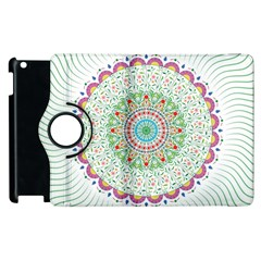Flower Abstract Floral Apple Ipad 3/4 Flip 360 Case
