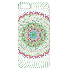 Flower Abstract Floral Apple Iphone 5 Hardshell Case With Stand