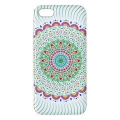 Flower Abstract Floral Apple Iphone 5 Premium Hardshell Case