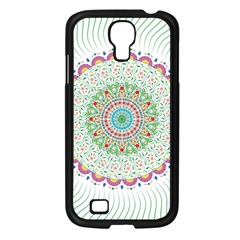 Flower Abstract Floral Samsung Galaxy S4 I9500/ I9505 Case (black)