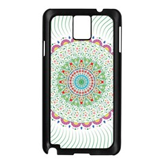 Flower Abstract Floral Samsung Galaxy Note 3 N9005 Case (black)