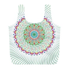 Flower Abstract Floral Full Print Recycle Bags (l)