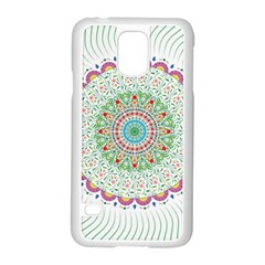Flower Abstract Floral Samsung Galaxy S5 Case (white)