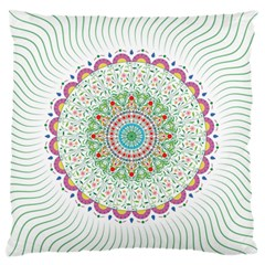 Flower Abstract Floral Large Flano Cushion Case (One Side)