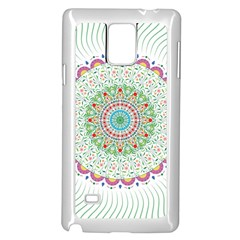 Flower Abstract Floral Samsung Galaxy Note 4 Case (white)