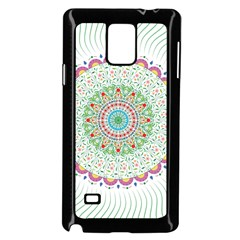 Flower Abstract Floral Samsung Galaxy Note 4 Case (black)