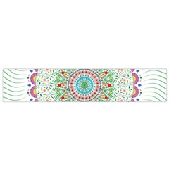 Flower Abstract Floral Flano Scarf (small)