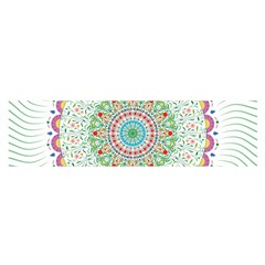 Flower Abstract Floral Satin Scarf (Oblong)