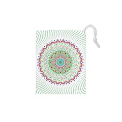 Flower Abstract Floral Drawstring Pouches (xs)