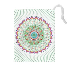 Flower Abstract Floral Drawstring Pouches (extra Large)