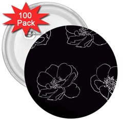Rose Wild Seamless Pattern Flower 3  Buttons (100 pack)
