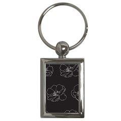 Rose Wild Seamless Pattern Flower Key Chains (rectangle)